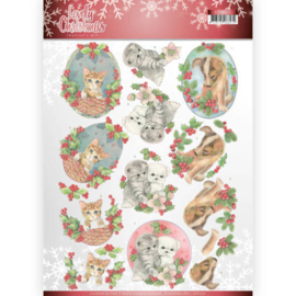 CD11375 3D Knipvel A4 - Lovely Christmas - Jeanine's Art