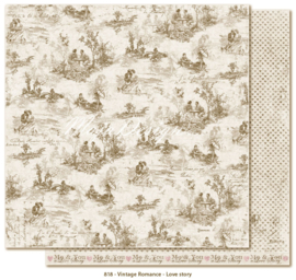 818 Scrappapier dubbelzijdig - Vintage Romance - Maja Design