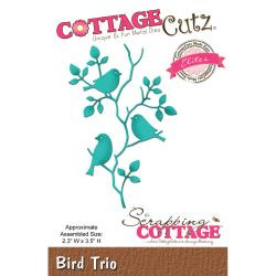 CCE411 Bird Trio  - Snij- en embosmal - Cottage Cutz