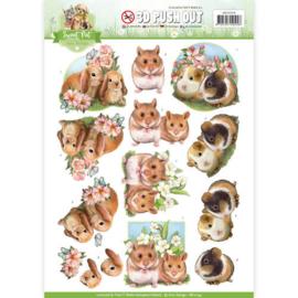 SB10194 Uitdrukvel A4 - Sweet Pets - Amy Design