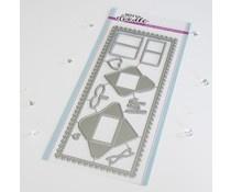 HFD0340 Slimline Mini mail Dies - Heffy Doodle