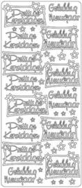 2277 Sticker - Prettige Kerstdagen  Gelukkig Nieuwjaar