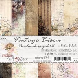 Papierbloc 30.5 x 30.5 - Vintage Bison - Craft a Clock - PAKKETPOST!