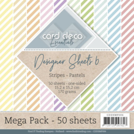 CDDSMP006 Paperpad 50 stuks - Stripes - Card Deco