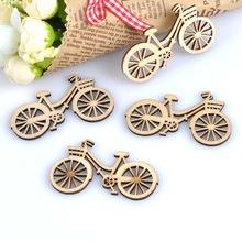 Hout figuurtjes - fiets- 5 stuks