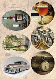 GH3365 Vintage vel - Cirkels/Ovalen Heren - Gerda's Hobbyshop