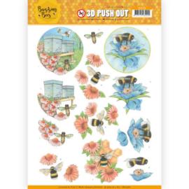 SB10366  Uitdrukvel A4 - Buzzing Bees - Jeanine's Art