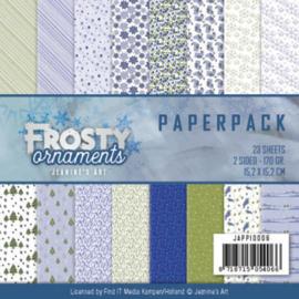 JAPP10006 Paperpad - Frosty Ornaments - Jenine's Art