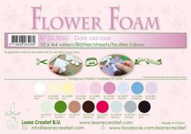25.5060 Flower foam sheets A4 0.8mm. Old rose - per stuk