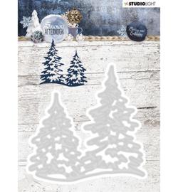 STENCILSA218  Snij- en embosmal  - Snowy Afternoon - Studio Light