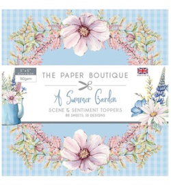 PB1250 Paperpad 12.7 x 12.7cm A Summer Garden - The Paper Boutique