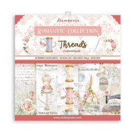 Paperpad 30.5 x 30.5cm -  Romantic Threads - Stamperia - PAKKETPOST!