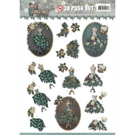 SB10293 3D Stansvel A4  - Christmas Wishes - Amy Design