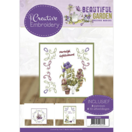 CB10025 Creative Embrodery - Beautiful Garden - Marieke Design