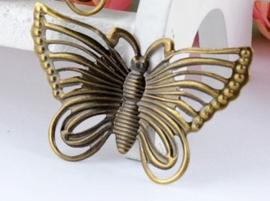 Vlinder - 5 stuks - Antiek Brons