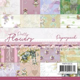 PMPP10027 Paperpad - Pretty Flowers - Marieke Design