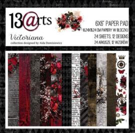 Paperpad 15,2 x 15,2 cm - 24 vel - Victoriana - 13@arts