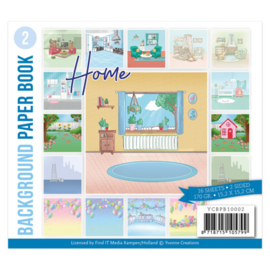 YCBPB10002  Background Paper Book 2  - Yvonne Creations - Home