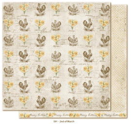 591 Scrappapier dubbelzijdig - Vintage Spring - Maja Design