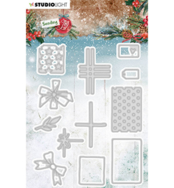 SL-SJ-CD48 - SL Cutting Die Build a gift Sending Joy nr.48