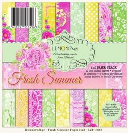 Paperpad 15.2 x 15.2 cm Fresh Summer 36 vel - Lemon Craft