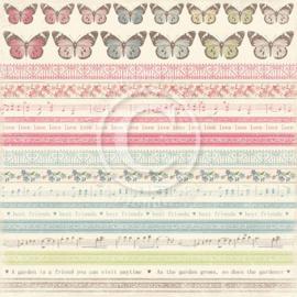 PD3610 Scrappapier Dubbelzijdig - Vintage Garden - Pion