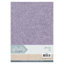CDEGP018 Glitterkarton A4 250gr - Lila  - 6 stuks - Card Deco