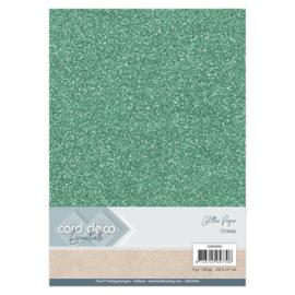 CDEGP003 Glitterkarton A4 250gr - Ocean  - 6 stuks - Card Deco