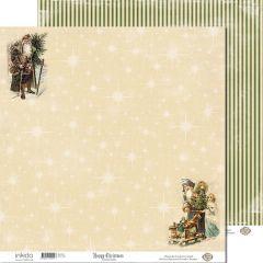 SM12492 Scrappapier dubbelzijdig - Santas Gifts - Inkido