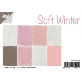 6011/0505 Paperbloc A4 a 12 vel - Soft Winter - Joy Crafts