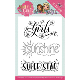 YCCS10038 Stempel - Sweet Girls - Yvonne Creations