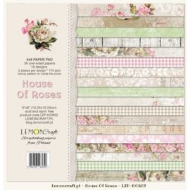 Paperpad 15.2 x 15.2 cm House of Roses 2 - 36 vel - Lemon Craft