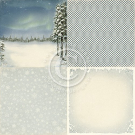 PD3904 Scrappapier - Wintertime in Swedish Lapland - Pion