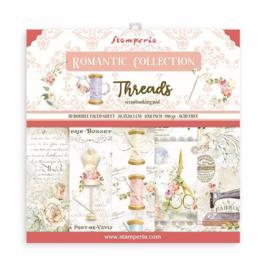 Paperpad 20.3 x 20.3cm -  Romantic Threads - Stamperia