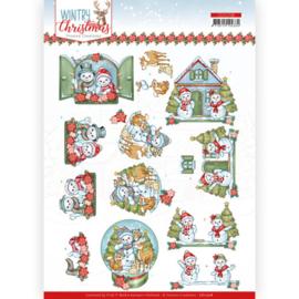 CD11708 3D vel A4 - Wintery Christmas - Yvonne Design