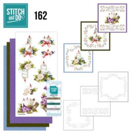 Stitch and Do 162 - Kerst - set voor 3 borduurkaarten