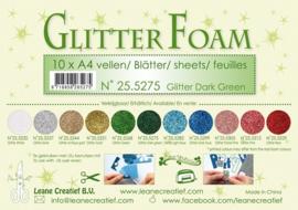25.5275 Glitter foam sheets A4 Glitter Dark Green - per vel