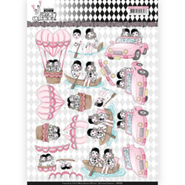CD11255 Knipvel A4 - Pretty Pierrot 2 - Yvonne Creations