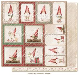 1127 Scrappapier dubbelzijdig - Plaatjes - Traditonal Christmas - Maja Design