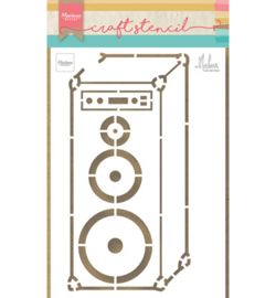 PS8062 Craft stencil Music Speaker - Marianne Design