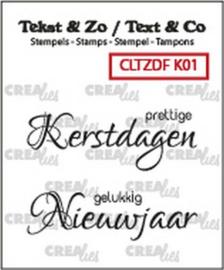 CLTZDFK01 Clearstempel - Kerst - Crealies