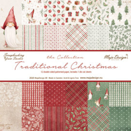 Paperpad 15,2 x 15,2 cm -  Traditonal Christmas - Maja Design