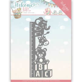 YCD10136 Snij- en embosmal - Welcome Baby - Yvonne Creations