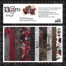 Paperpad 30,5 x 30,5 cm - 12 vel - Victoriana - 13@arts - PAKKETPOST!