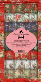 PFS026 Dixi Slimline PaperPack 10x21 cm Christmas Wood