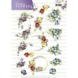 CD11083 Knipvel A4 - Timeless Flowers - Marieke Design