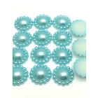 8mm Parelflower - 10 stuks - Sky Blue