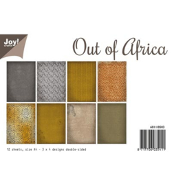 6011/0503 Paperbloc A4 a 12 vel - Out of Africa - Joy Crafts