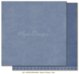 920 Scrappapier dubbelzijdig Monochromes - Denim and Friends - Maja Design