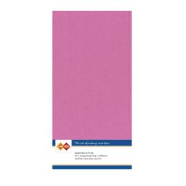 49 Hardroze - Linnen Kaarten 4 kant 13.5x27cm - 10 stuks - 200 grams - Card Deco
